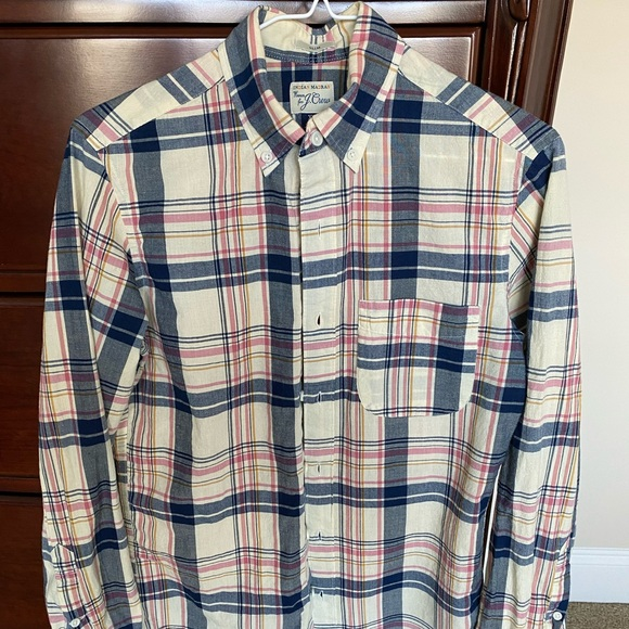 *Great Condition* J.Crew Indian Madras Button Down